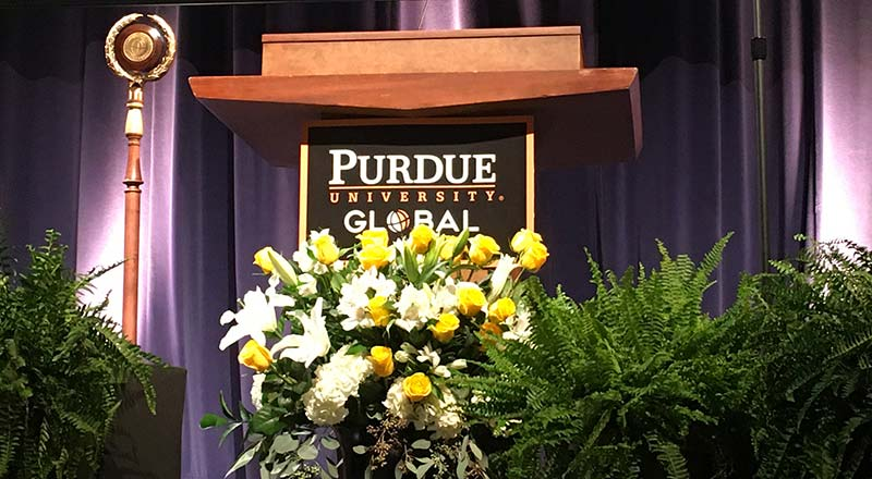 Purdue Global Holds High Tech Online Graduation